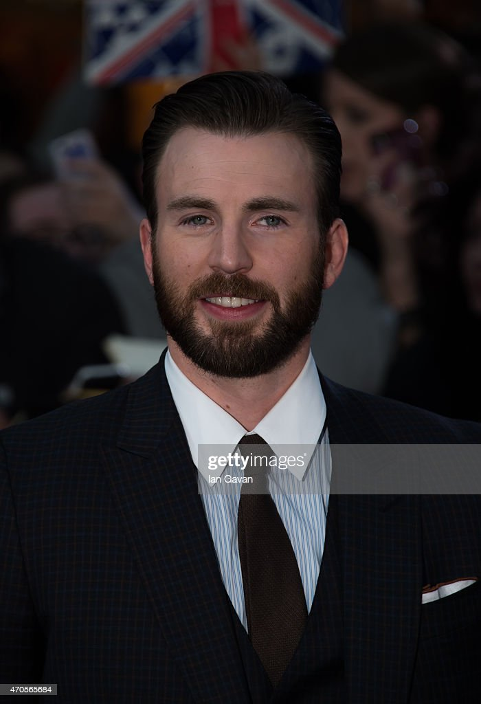 Chris Evans attends the European premiere of 'The Avengers: Age Of Ultron' at Westfield London on April 21, 2015 in London, England.