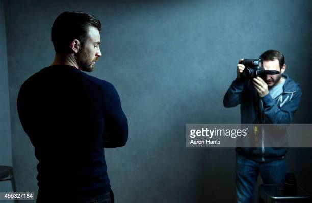 Chris Evans attends the Guess Portrait Studio during 2014 Toronto International Film Festival on September 12 2014 in Toronto Canada