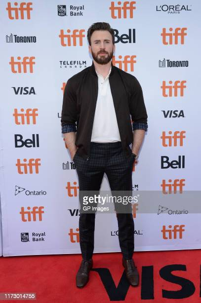 Chris Evans attends the Knives Out premiere during the 2019 Toronto International Film Festival at Princess of Wales Theatre on September 07 2019 in...