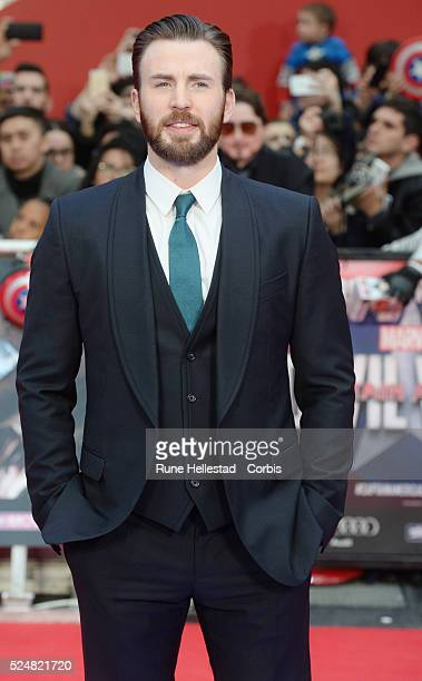 Chris Evans attends the premiere of Captain America Civil War at Vue Westfield on April 26 2016 in London England