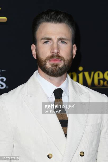 "Chris Evans attends the premiere of Lionsgate's ""Knives Out"" at Regency Village Theatre on November 14, 2019 in Westwood, California."