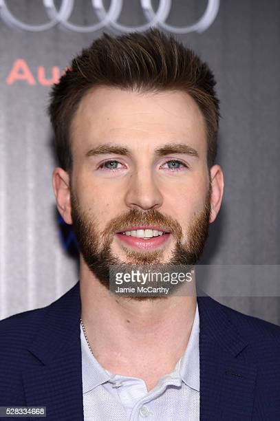 "Chris Evans attends the screening Of Marvel's ""Captain America: Civil War"" hosted by The Cinema Society with Audi & FIJI at Henry R. Luce Auditorium..."