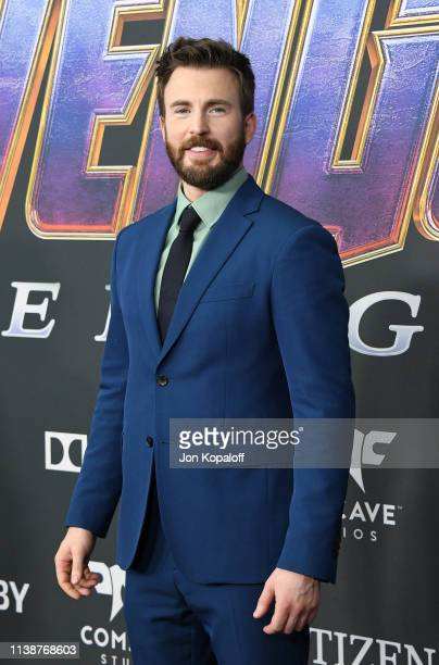 "Chris Evans attends the world premiere of Walt Disney Studios Motion Pictures ""Avengers: Endgame"" at the Los Angeles Convention Center on April 22,..."