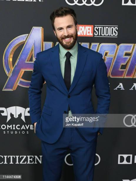 Chris Evans attends the World Premiere Of Walt Disney Studios Motion Pictures Avengers Endgame at Los Angeles Convention Center on April 22 2019 in...