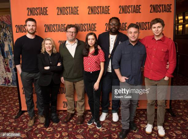 Chris Evans Carole Rothman Kenneth Lonergan Bel Powley Brian Tyree Henry Trip Cullman and Michael Cera attends the 'Lobby Hero' cast meet and greet...