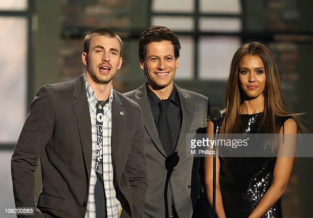 Chris Evans Ioan Gruffudd and Jessica Alba during 2007 Taurus World Stunt Awards Show at Paramount Studios in Los Angeles California United States