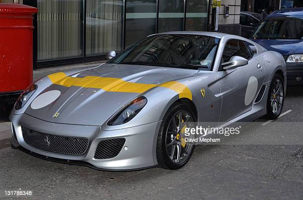 Chris Evans leaves BBC Radio Two after presenting his breakfast show during which his Ferrari was hit by Vanessa Feltz in her mini on January 28 2011...