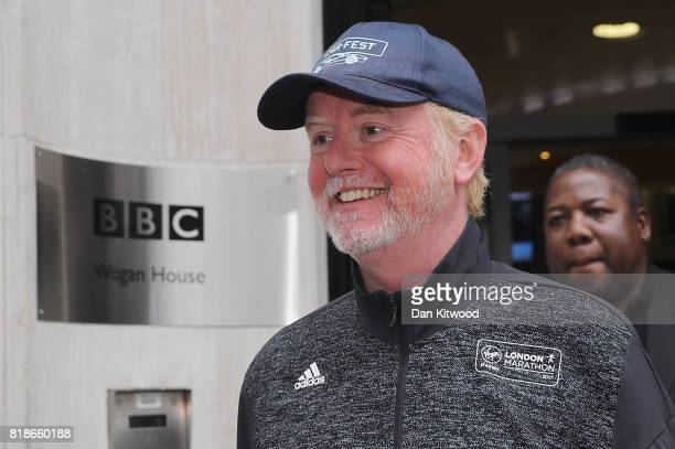 Chris Evans leaves BBC Wogan House after presenting his Radio 2 Breakfast Show on July 19, 2017 in London, England. The BBC will publish the pay of...