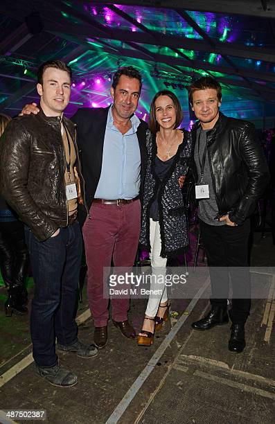 Chris Evans Rob Tincknell Chief Executive Officer of Battersea Power Station Development Company wife Rachel Tincknell and Jeremy Renner attend the...