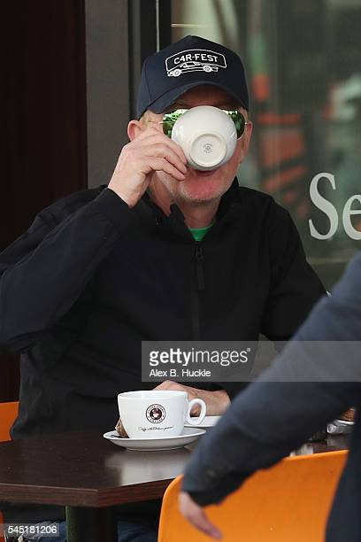 Chris Evans seen at a cafe where he met with James Corden and Danny Baker at a cafe on July 6, 2016 in London, England.
