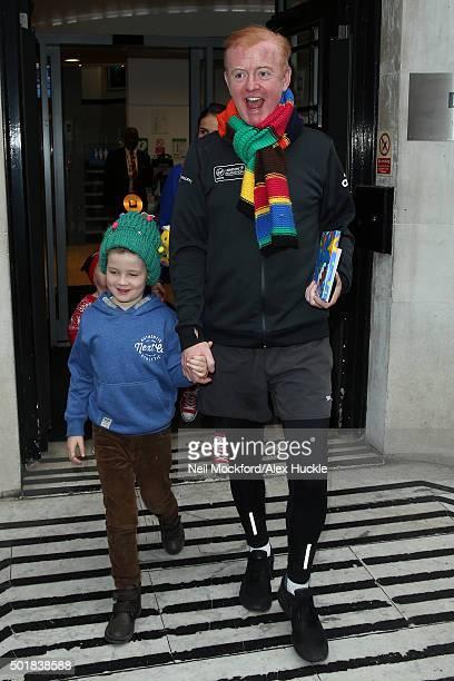 Chris Evans seen at BBC Radio 2 on December 18 2015 in London England
