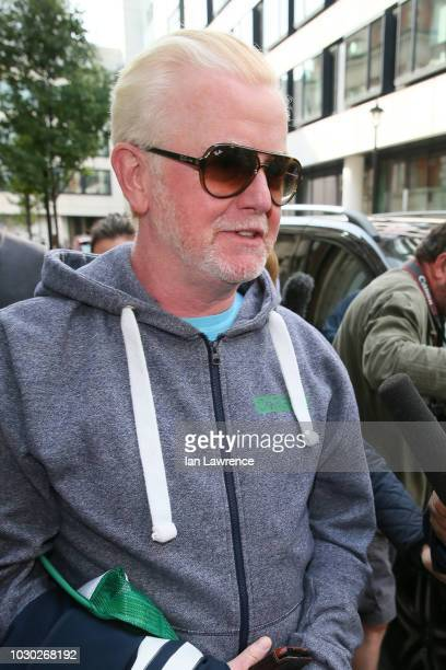 Chris Evans seen departing the BBC Radio 2 Studios after announcing he will be leaving the breakfast show after 8 years at the helm, on September 3,...