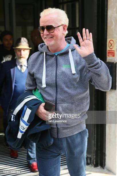 Chris Evans seen departing the BBC Radio 2 Studios after announcing he will be leaving the breakfast show after 8 years at the helm on September 3...