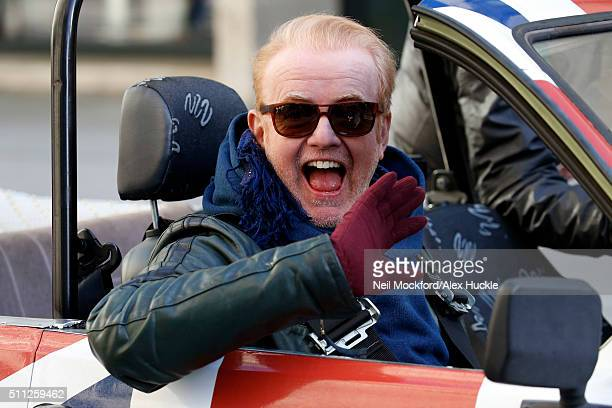 Chris Evans seen filming scenes for Top Gear at the BBC, Portland Place on February 19, 2016 in London, England.