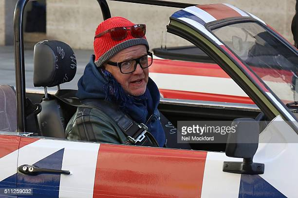 Chris Evans seen filming Top Gear outside BBC Broadcasting House on February 19 2016 in London England