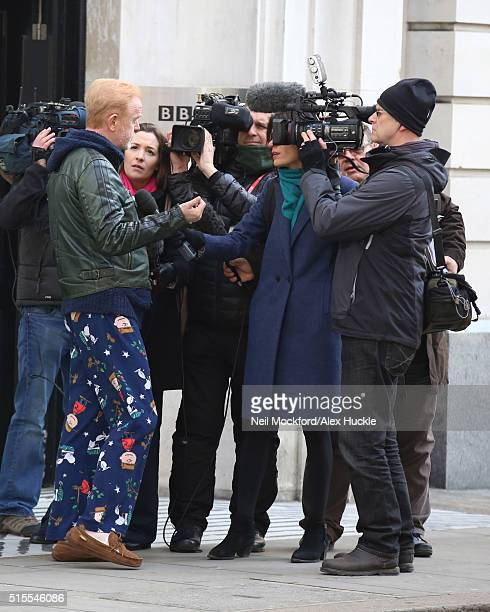 Chris Evans seen leaving BBC Radio 2 on March 14 2016 in London England
