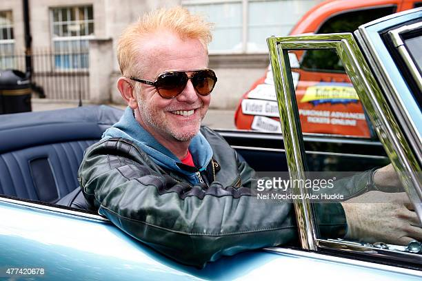 Chris Evans seen leaving the BBC Radio 2 Studios the day after being announced as the new 'Top Gear' host on June 17 2015 in London England Photo by...
