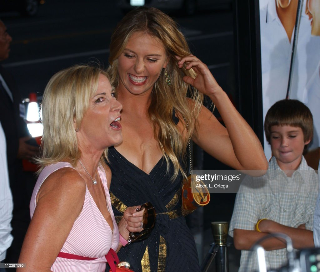 Chris Evert and Maria Sharapova during 'Wimbledon' World Premiere - Arrivals at The Academy in Beverly Hills, California, United States.