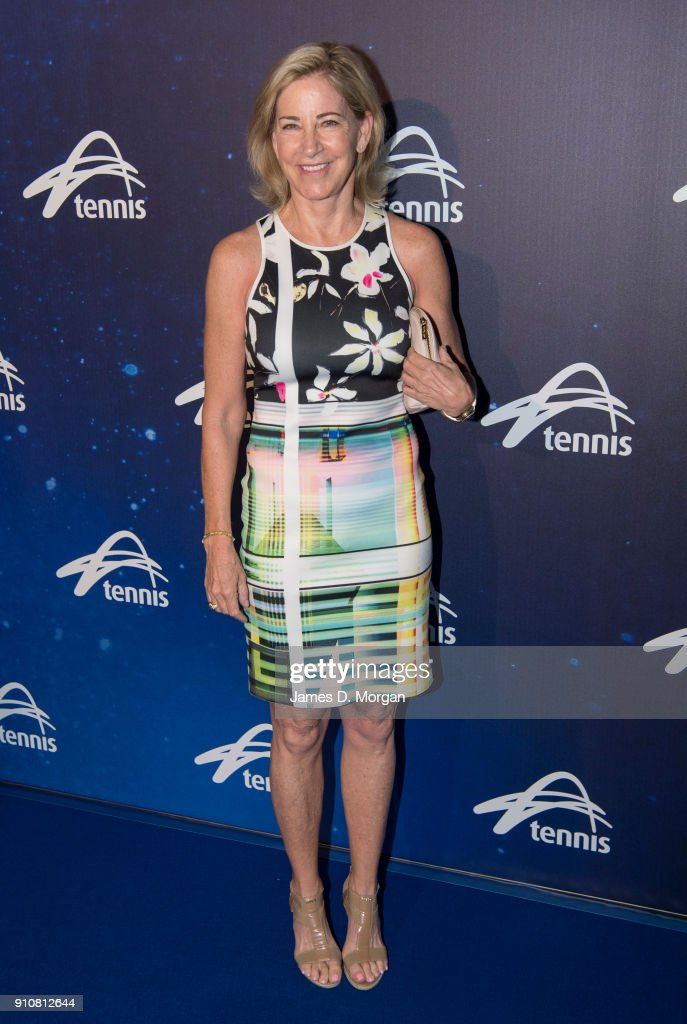 Chris Evert attends the Annual Legends lunch at the Grand Hyatt hotel on day 13 of the 2018 Australian Open on January 27, 2018 in Melbourne, Australia. Tennis legends from around the world joined Mal Anderson and his family at the lunch to celebrate the achievements of the Australian great and which is held every year on the Saturday of the Women's final.