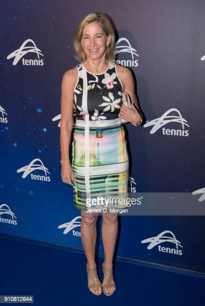Chris Evert attends the Annual Legends lunch at the Grand Hyatt hotel on day 13 of the 2018 Australian Open on January 27 2018 in Melbourne Australia...
