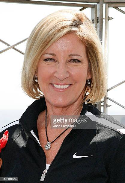 Chris Evert celebrates National Tennis Month at The Empire State Building on May 13 2010 in New York City
