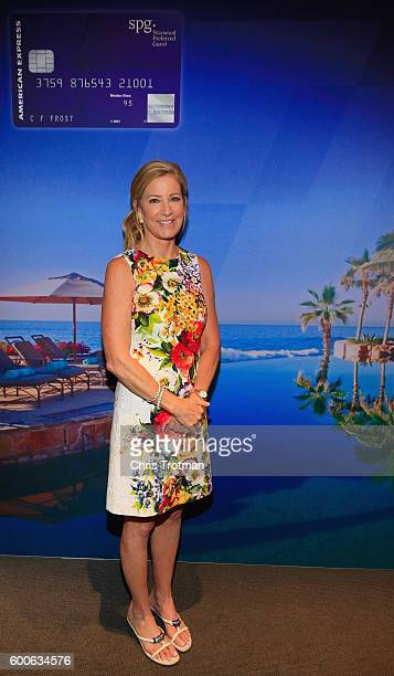 Chris Evert former professional tennis player attends The SPG Amex Card MembersOnly Event on Day Ten of the 2016 US Open at the USTA Billie Jean King...