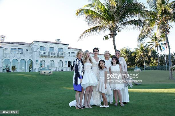Chris Evert Julie Lemigova Martina Navratilova daughters Victoria and Emma Jana Navratilova and guest pose at the Martina Navratilova and Julie...