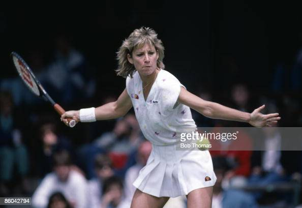 Chris Evert Lloyd Of The Usa During The Wimbledon Lawn