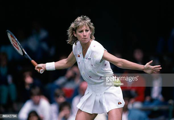 Chris Evert Lloyd of the USA during the Wimbledon Lawn Tennis Championships held in London England during July 1987