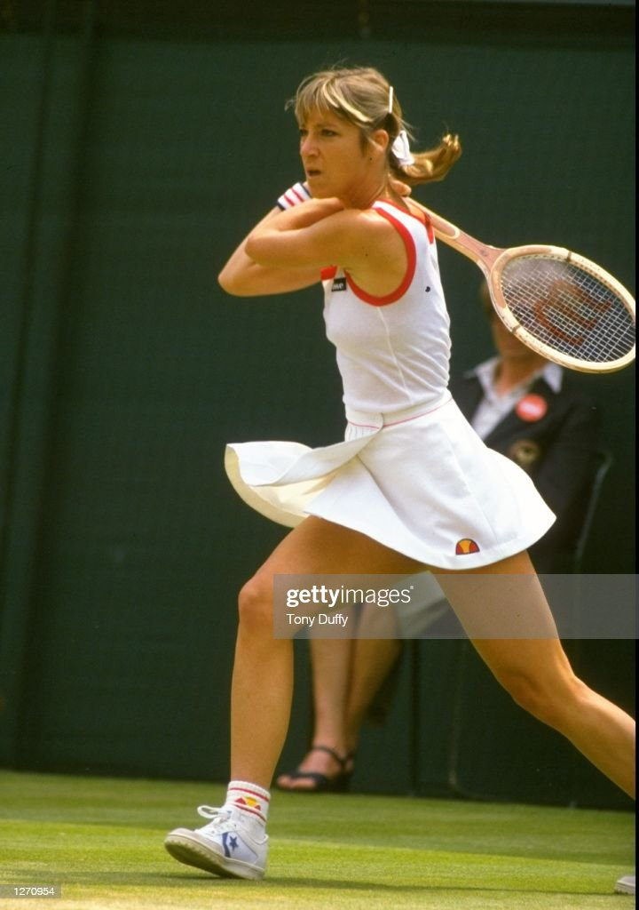 Chris Evert of the USA in action : News Photo