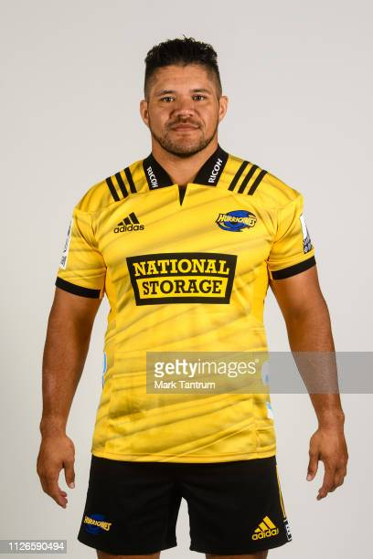 Chris Eves poses during a Hurricanes Super Rugby headshots session on February 01 2019 in Wellington New Zealand