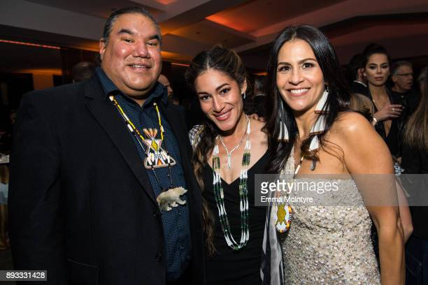 Chris Eyer and Q'orianka Kilcher attend the after party for the premiere of Entertainment Studios Motion Pictures' 'Hostiles' on December 14 2017 in...