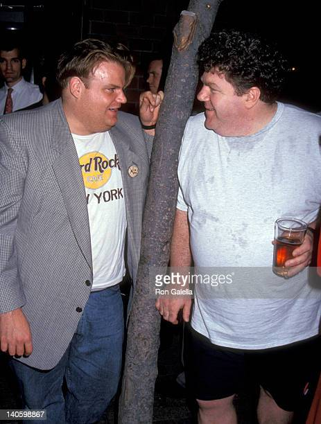Chris Farley and George Wendt at the Play Performance of 'Wild Men' Westside Theatre New York City