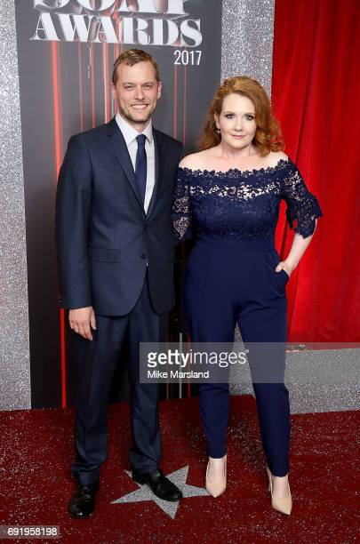 Chris Farr and Jennie McAlpine attend The British Soap Awards at The Lowry Theatre on June 3 2017 in Manchester England The British Soap Awards will...