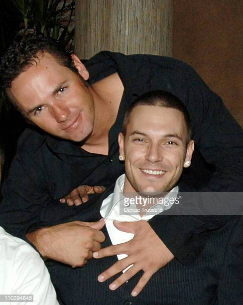 Chris Federline and Kevin Daddy Federline during Kevin Federline's Album Release Party Dinner at TAO Restaurant at The Venetian Hotel and Casino...