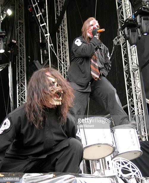 Chris Fehn and Shawn Crahan of Slipknot