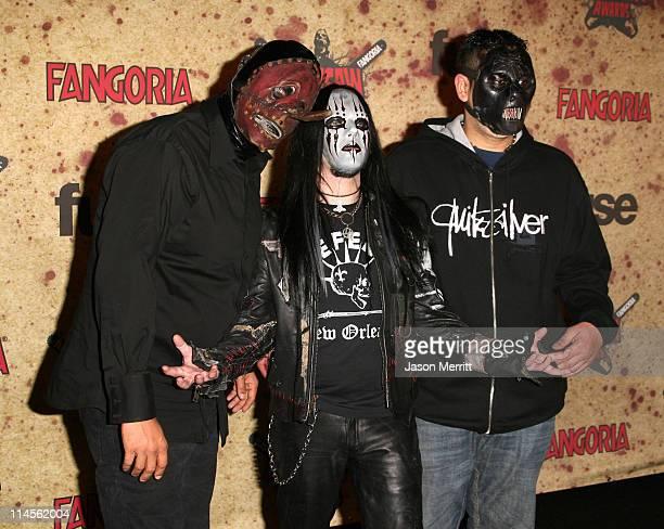 Chris Fehn Joey Jordison and Paul Gray of Slipknot