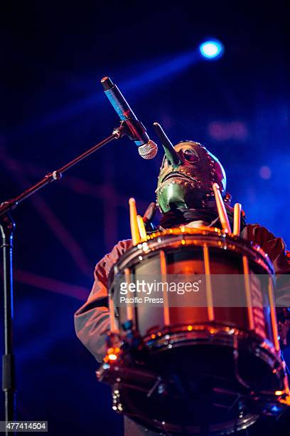 Chris Fehn of Slipknot performs live at Ippodromo Capannelle Slipknot is an American heavy metal band from Des Moines Iowa Formed in September 1995...