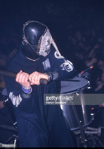 Joey Jordison of Slipknot performs on stage at Brixton Academy London United Kingdom 5th March 2000