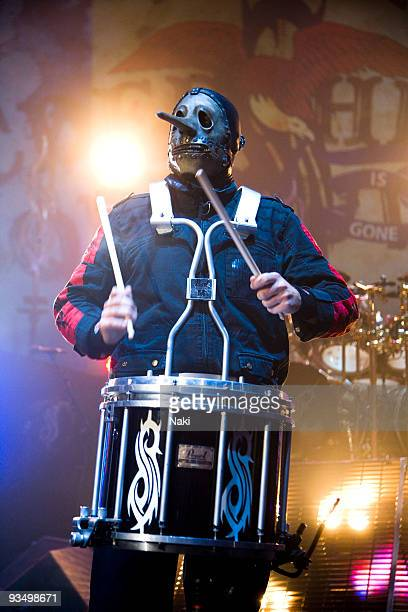 Chris Fehn of Slipknot performs on stage at Hammersmith Apollo on December 2nd 2008 in London