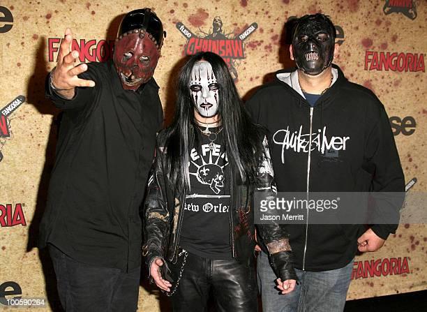 Chris Fehn Sid Wilson and Paul Gray of Slipknot