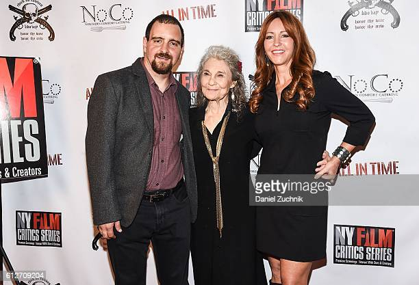 Chris Fetchko Lynn Cohen and Marina Donahue attend the 'All in Time' New York Film Critics Screening at AMC Empire 25 theater on October 4 2016 in...