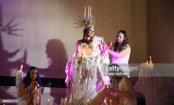Chris Flambeaux Performance Artists during The Chashama Gala at 4 Times Square on June 7 2018 in New York City