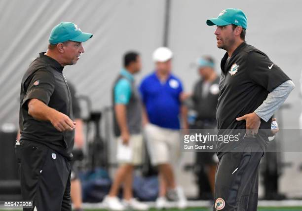 Chris Foerster resigned as Dolphins offensive line coach Monday October 9 after video was released by a Las Vegas model of him apparently doing lines...