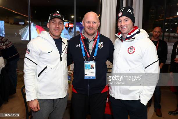 Chris Fogt Darrin Steele and Steve Langton attend the USA House at the PyeongChang 2018 Winter Olympic Games on February 10 2018 in Pyeongchanggun...