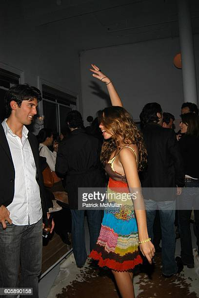 Chris Ford and Alessandra Balazs attend Anne Maffei Party at Anne Maffei Loft on April 21 2006 in New York City