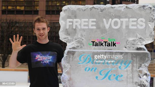 Chris Fountain attends photocall as TalkTalk announce free votes for 'Dancing on Ice' for their customers on February 4 2010 in London England