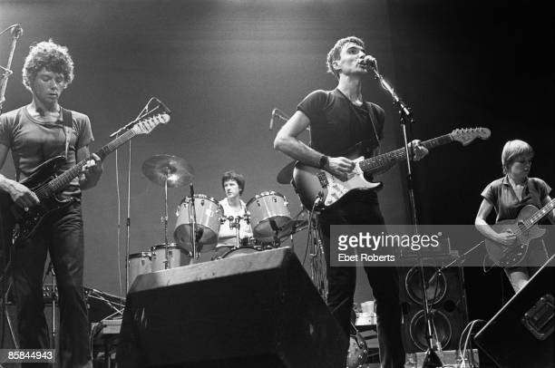 UNITED STATES AUGUST 10 ENTERMEDIA THEATER Chris FRANTZ and TALKING HEADS and Jerry HARRISON and David BYRNE LR Jerry Harrison Chris Frantz David...