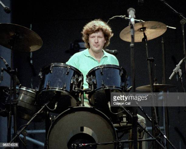 Chris Frantz performing with Talking Heads at the Greek Theater in Berkeley on September 4 1983