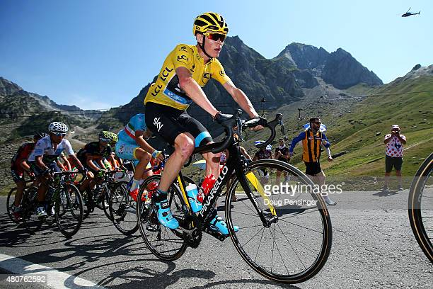Chris Froome of Great Britain and Team Sky climbs the Col du Tourmalet during stage eleven of the 2015 Tour de France, a 188 km stage between Pau and...